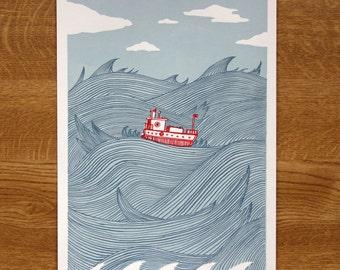 In Wild Waters - A4 Digital Giclée Print