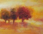 "Original Oil Painting 7"" x 5"" oil on wood panel landscape"