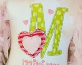Personalized Letter and Heart Shirt