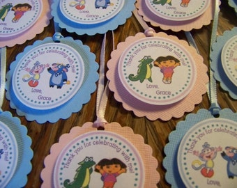 Dora the Explorer Favor Tags-Dora the Explorer Thank You Tags-Dora The Explorer Tags-Boots Thank You Tags-Dora Decoration-Dora Birthday