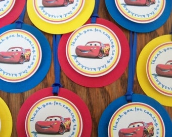 Cars Favor Tags - Cars Thank You Tags - Cars Birthday - Cars Party - Cars Party Decoration - Cars Birthday Decoration-Cars Decoration