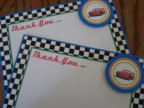 Cars Thank You Cards-Cars Birthday Thank You Cards-Cars Thank You Notes-Cars Thank You Note