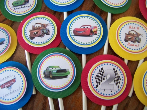 Cars Cupcake Toppers-Cars Birthday Cupcake Toppers-Cars Decoration-Cars Birthday-Cars Party