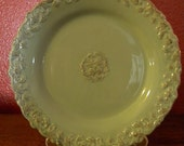 Shabby Chic French Country Green Blue Gray Dinner Plate