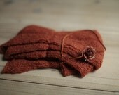 Pumpkin Stretchy Knit Newborn Wrap with Matching Headband