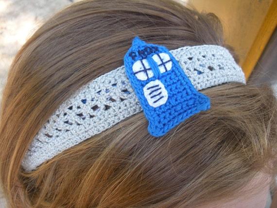 Crochet TARDIS headband