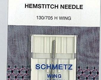 Sewing Machine Needles, 16/100 Hemstitch Machine Needles, Schmetz 1772, Wing Needle