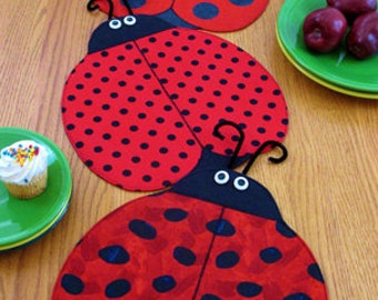 Table Runner Pattern and Place Mats, The Ladies, Ladybug, Craft supply