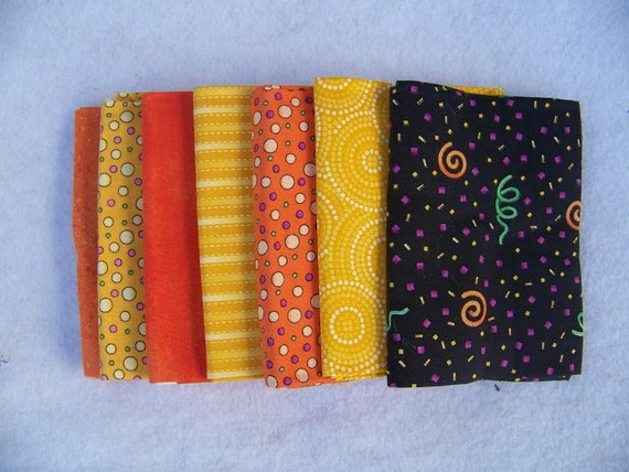 Halloween Themed Fat Quarter Bundle Pre Coordinated
