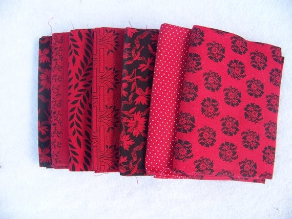 Bundle Fat Quarters  Reds