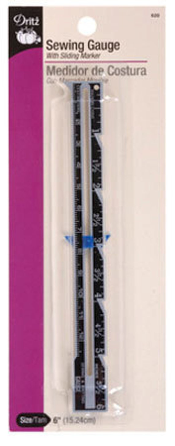 "Sewing Gauge 6"" w/Sliding Marker, Dritz, Sewing Notion"