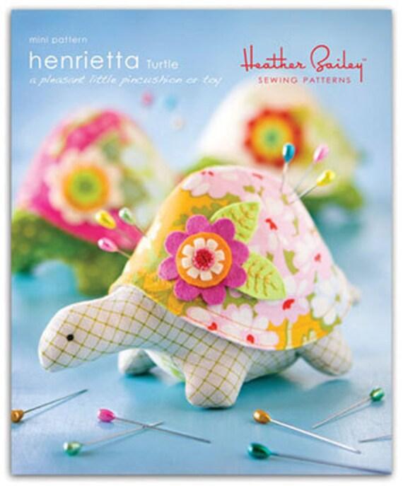 Pattern, Pin Cushion, Henrietta Turtle, mini pattern
