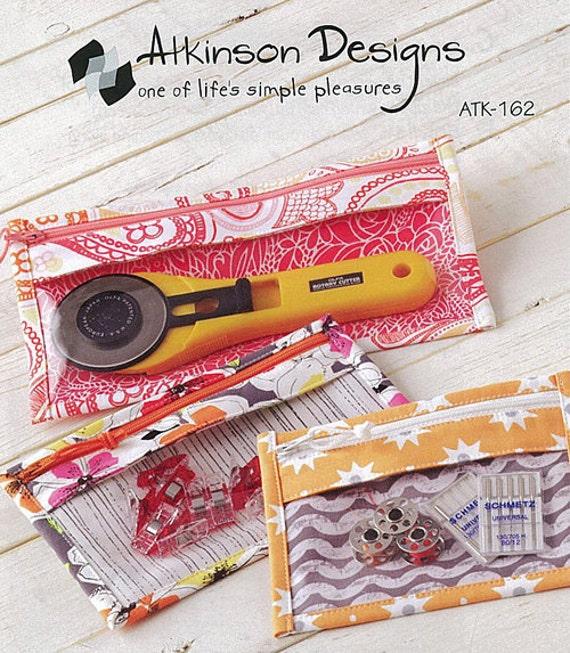 Pencil Bag, Cosmetic Bag Pattern, Atkinson Designs, Bridget's Bagettes