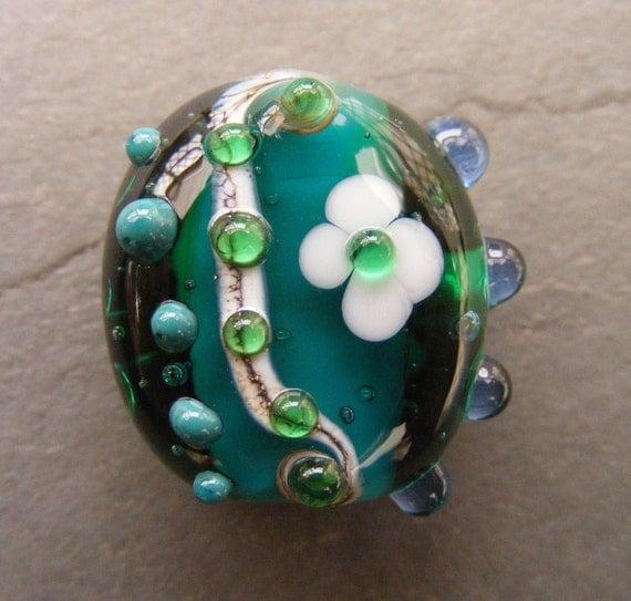 Neptune's Garden Lampwork Focal Bead