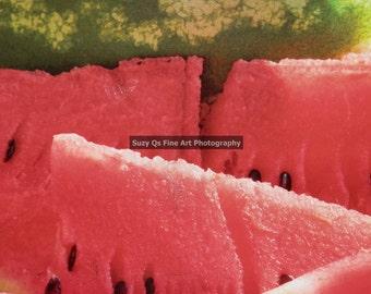 Art, Fruit, Summer Fun, Digital Download, Watermelon Suzy Qs Fine Art Photography, Summer Fruit, Summer Art, Fresh and Fruity Art