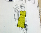 """36"""" Chest - 1960s Vintage Pinafore/Twiggy Dress Sewing Pattern, with original envelope & LONDON date stamp 1967, OOP"""