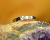 Hammered Pattern Stainless Steel 3mm Ring for All Occasions