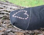 Heart Toe Custom Toms (One Shoe)