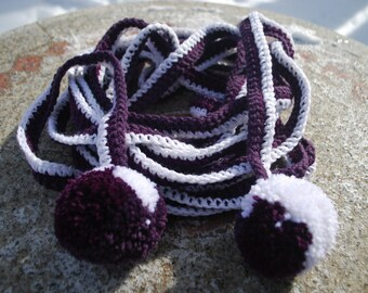 On sale,POM POM scarf hand knitted