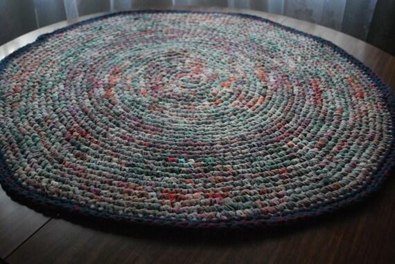 On sale ,handmade circle rug