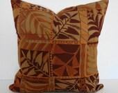 Autumn Leaves Decorative Throw Pillow, 16x16, Harvest Colors - Orange, Rust, Brown, Pillow Cushion