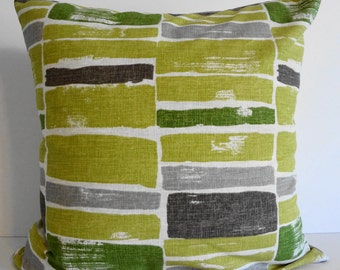Green, Lime Green, Citron Designer P Kaufmann Green Pillow Cover, Throw Pillow Cover, 20x20,  18 x 18, Cushion Cover