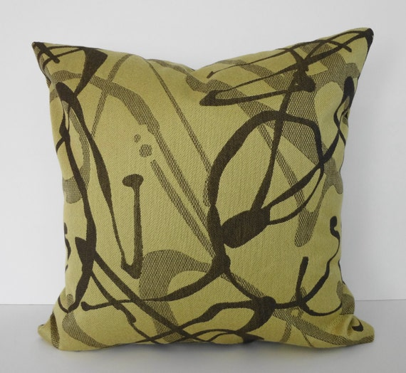 Decorative Yellow Throw Pillow Cover Yellow & Brown 18x18