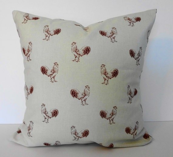 Decorative Pillows With Chickens : Rooster Decorative Pillow Cover Throw Pillow Cover 18x18