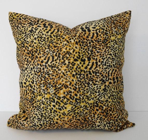 Animal Print Decorative Pillow : Cheetah Leopard Print Decorative Pillow Cover Black and