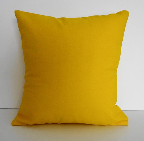 Throw Pillow Yellow : FREE SHIPPING Yellow Sunshine Throw Pillow Bright Yellow