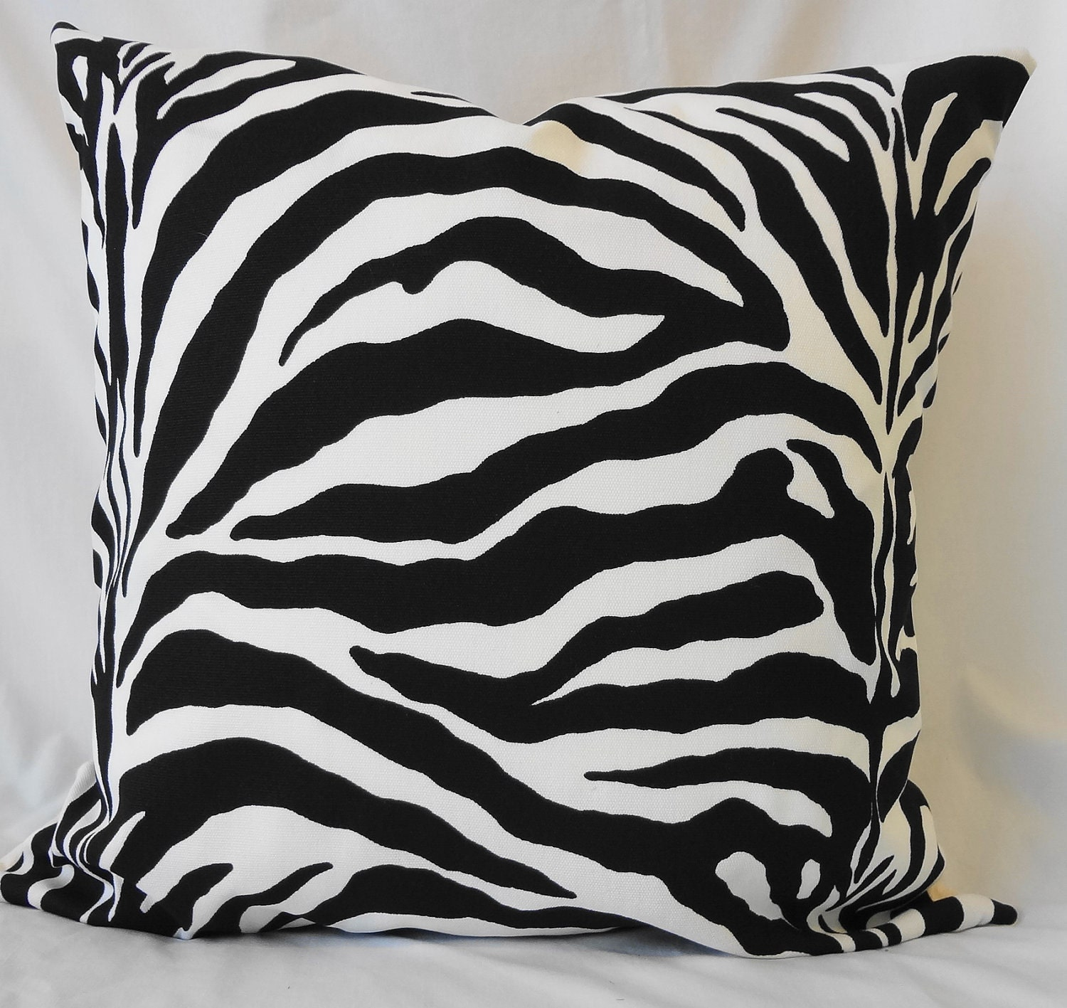 Decorative Zebra Pillow Cover Throw Pillow Cover in Black and