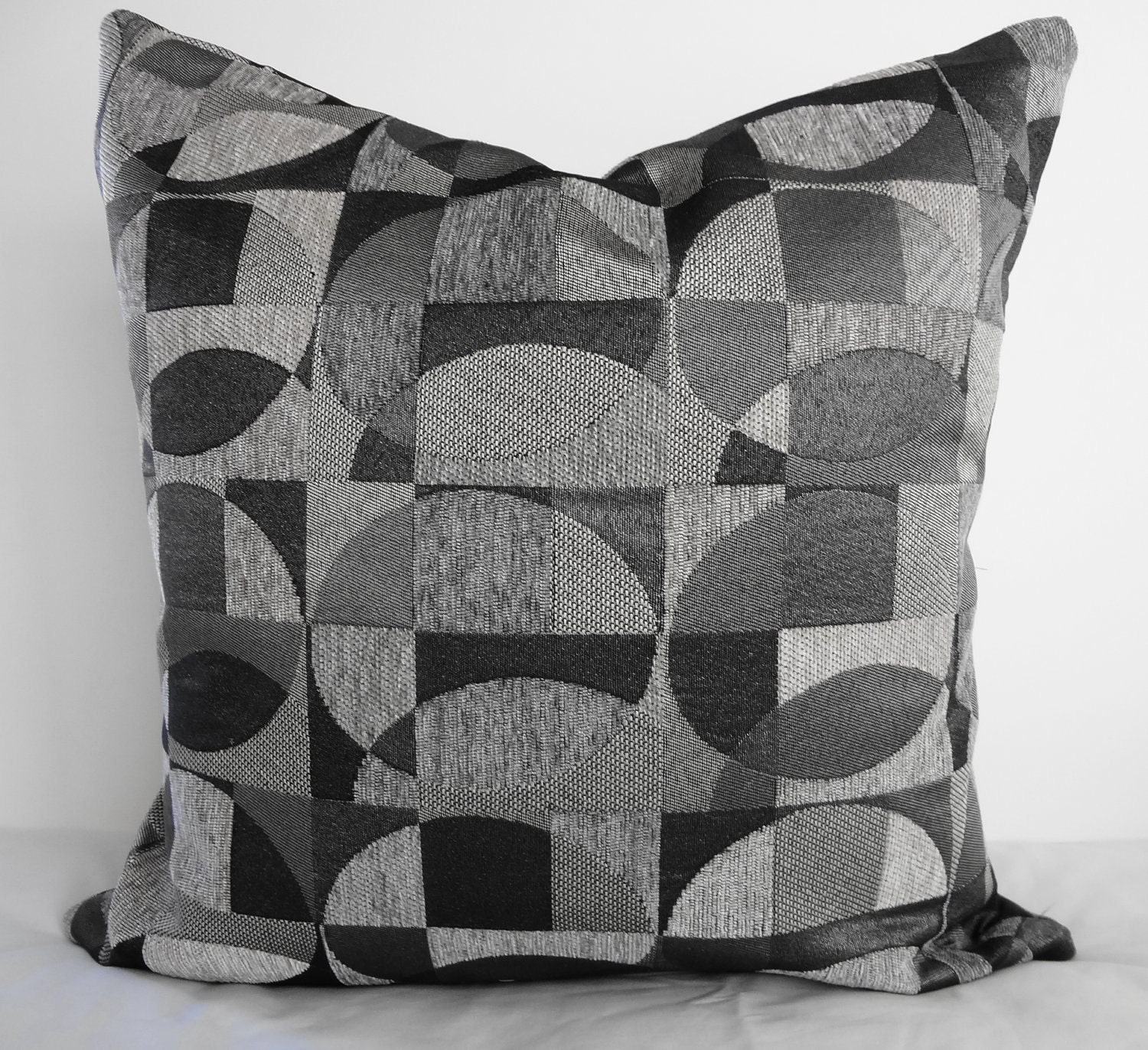 Black And Silver Decorative Pillows : Geometric Decorative Pillow Covers Black Silver & Gray