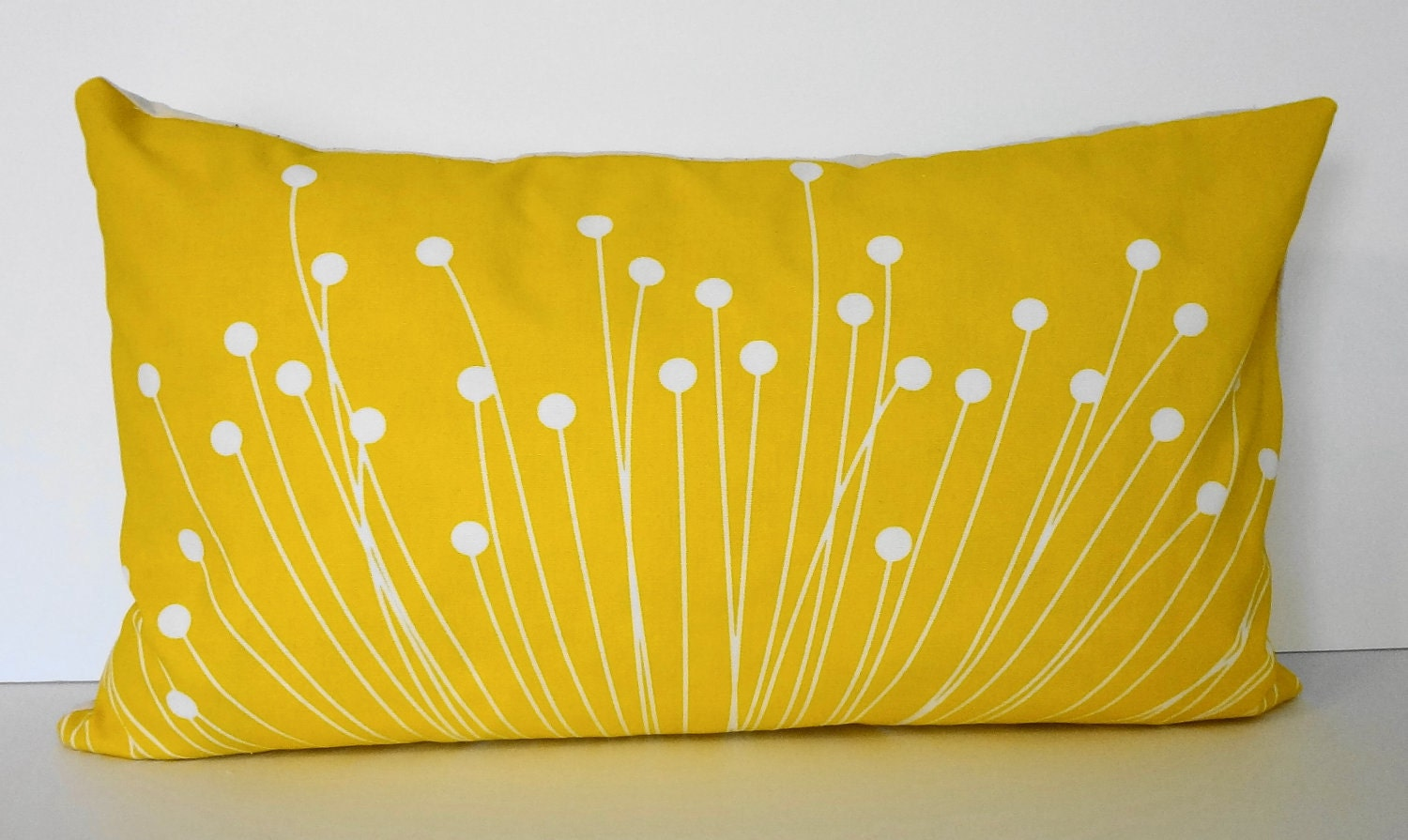 Decorative Pillow Yellow : Starburst Yellow Lumbar Pillow Cover Decorative Throw Pillow