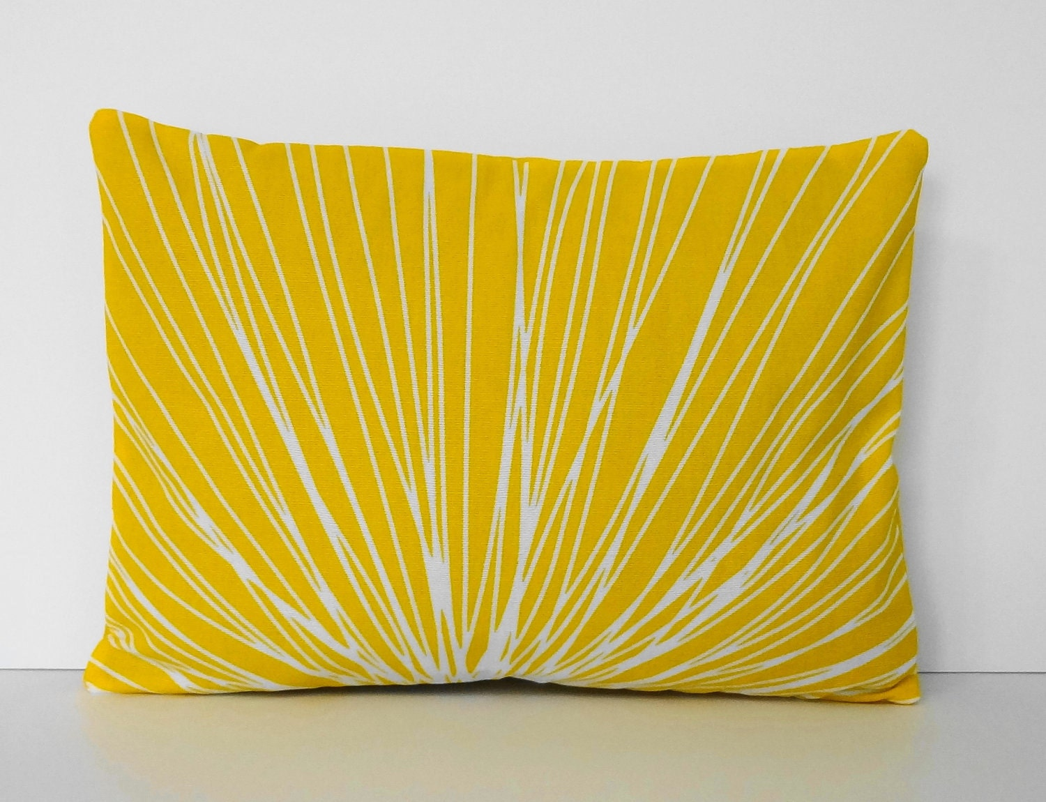 Throw Pillow Yellow : Starburst Yellow Lumbar Pillow Cover Decorative Throw Pillow