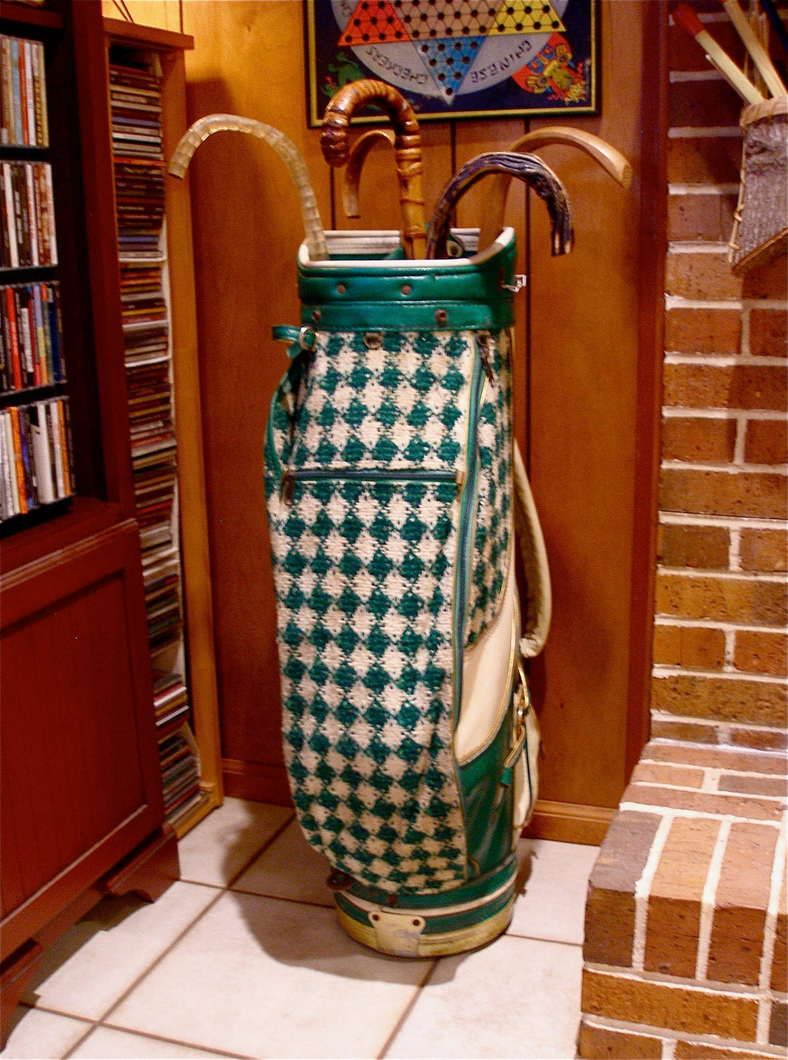 Funky Green Plaid Golf Bag By Walter Hagen 60 S 70 S