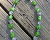 Lime Green Bling Necklace