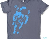 Space ASTRONAUT Kids T Shirt Slate -  american apparel tee Sizes 2 4 6 8 10 & 12