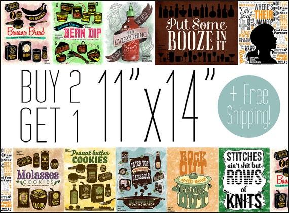 FREE US SHIPPING - Buy 2 Get 1 Free 11x14 Prints