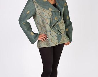 Plus Size Jackets--Refined Ruffles