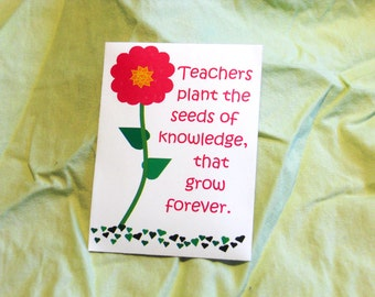 Teacher Appreciation Week May 2-6, Official Day Tuesday May 3rd, Seed Packets, Includes Seed