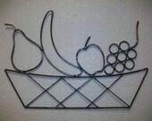 Fruit Basket Wall Art Metal Sculpture
