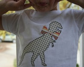 Girls Roar, Dinosaur with Bow Tie Shirt