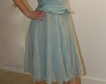VINTAGE Seaform Under the Sea Dream Party Dancing Tea Length Dress- Small 2/4/6