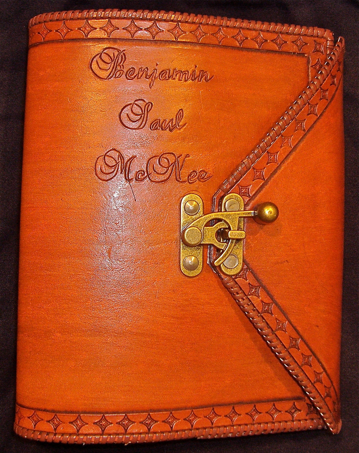 Handmade Leather Book Cover ~ Custom leather aa big book or bible cover