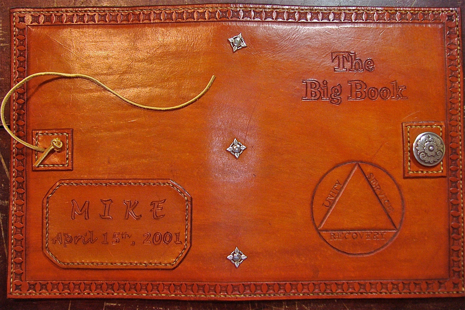 alcoholics anonymous leather big print big book cover