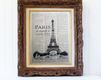 eiffel tower,french,france,bookpage,dictionary,book page,vintage,art,print,home,decor,paris