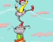 Juggling Act comic greeting card