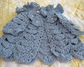 Easter Capelet for Little Girl, Crochet Blue Capelet