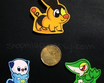 Items similar to sprite pokemon starter unys gruikui vip lierre moustillon on etsy - Starter pokemon blanc ...