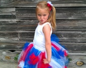 girls tutu, adult tutu , 4th of july,  red white and blue